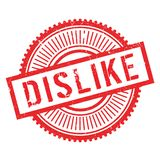 Dislike stamp rubber grunge Stock Photos