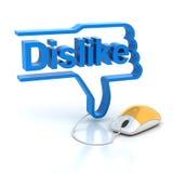 Dislike symbol Stock Image