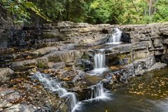 Dismal Falls, Giles County, Virginia, USA. The Dismal Falls is a 66 foot cascading waterfall located in Jefferson National Forest, Giles County, Virginia, USA Stock Photos