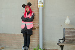 Dismaland happy helper Stock Image