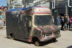 Dismaland Ice Cream Van Stock Photography