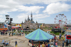 Dismaland, Weston-Superbe-jument Images stock