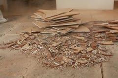 Dismantle deckte mit Ziegeln stockfoto