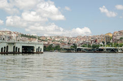 Dismantled bridge, Golden Horn, Istanbul Royalty Free Stock Images