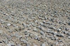Dismantled cobblestone pavement Stock Photo