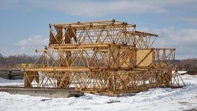 Dismantled construction crane Royalty Free Stock Image