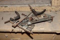 Dismantled door lock Stock Photos