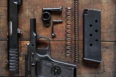 Dismantled Handgun Stock Images