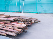 Dismantled old scaffolding Stock Photos