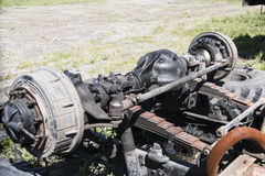 Dismantled old truck in a dump Stock Photos
