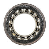 Dismantled old and very worn ball bearing Stock Photography