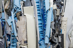 Dismantled pastic computer parts for recycling Stock Images