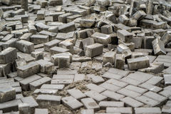 Dismantled pavers moscow Stock Photo