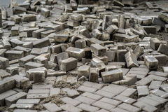 Dismantled pavers moscow.  Stock Photos