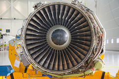 Dismantled plane engine. Stock Photography