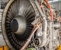 Dismantled plane engine. Royalty Free Stock Photography