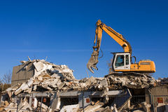 Dismantling. Of a big house Royalty Free Stock Images