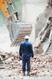 Dismantling of buildings and structures Stock Photos