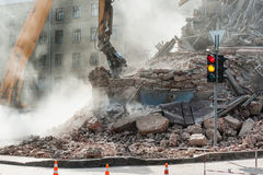 Dismantling of buildings and structures Stock Image