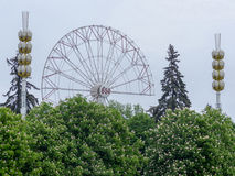 Dismantling Ferris wheel at VDNKh Moscow Spring 2016 Stock Photo
