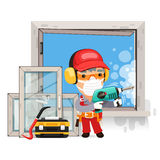 Dismantling the Old Window Royalty Free Stock Image