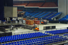 Dismantling of stage and stage equipment Royalty Free Stock Photography