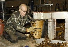 Dismantling transformer Stock Image