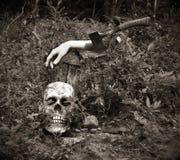 dismembered halloween hand Royaltyfri Bild