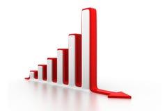 Disminución del gráfico de negocio Fotos de archivo libres de regalías