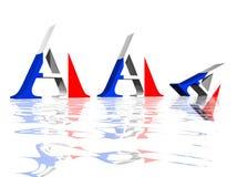Disminución del grado francés del AAA Imagen de archivo