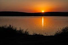 Disminución en el lago Imagen de archivo libre de regalías