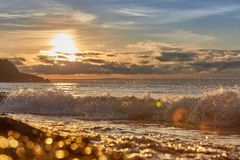 Disminución en el lago Baikal, Imagen de archivo libre de regalías