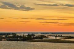 Disminución sobre el río Volga Fotografía de archivo