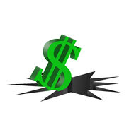 Disminuya el dólar Foto de archivo