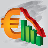 Disminuya en euro Fotografía de archivo