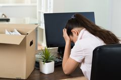 Dismiss Young Businesswoman In Office Stock Photography