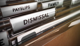 Dismissal Concept. Redundancy Plan Stock Image