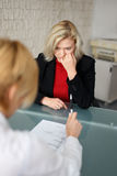Dismissal or failed job interview Stock Image