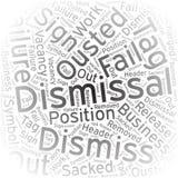 Dismissal ,Word cloud art background Stock Photos
