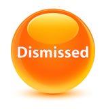 Dismissed glassy orange round button Stock Images