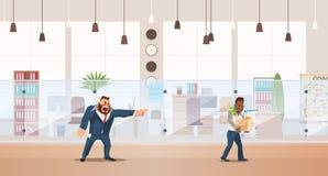 Dismissed, Loss Job. Vector Illustration. royalty free illustration