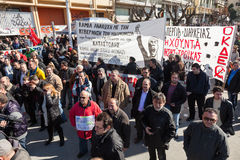 Dismissed public servants protest Royalty Free Stock Photo