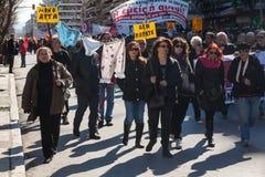 Dismissed public servants protest Stock Image