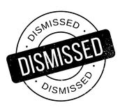 Dismissed rubber stamp. Grunge design with dust scratches. Effects can be easily removed for a clean, crisp look. Color is easily changed Royalty Free Stock Image