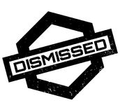 Dismissed rubber stamp. Grunge design with dust scratches. Effects can be easily removed for a clean, crisp look. Color is easily changed Stock Images