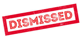 Dismissed rubber stamp Royalty Free Stock Photo