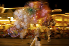 Disney świat przy nocą Zdjęcie Stock