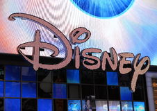 Disney. The Disney electronic billboard in Times Square, New York royalty free stock photo