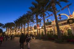 Disney adventure park. The Restaurant promenade at Disney adventure park Stock Photos