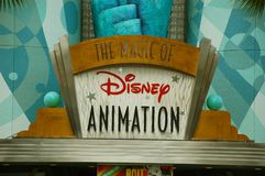 Disney Animation Entrance Stock Photography